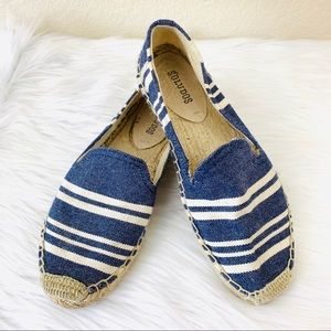 {Soludos} Striped Denim Espadrille Flats